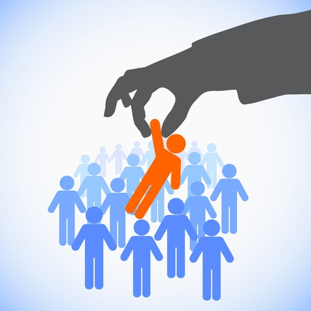 gespr�ch: Human Resources-Konzept: Wahl der perfekte Kandidat f�r den Job Illustration