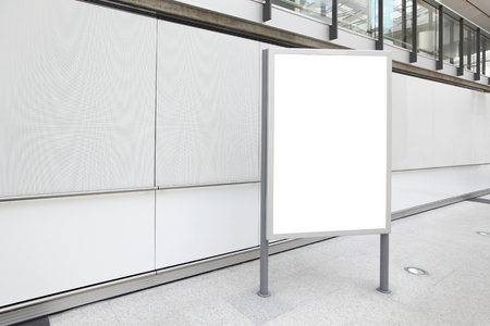 blank billboard: Blank Billboard in airport shot in asia, hong kong, great for your copy space