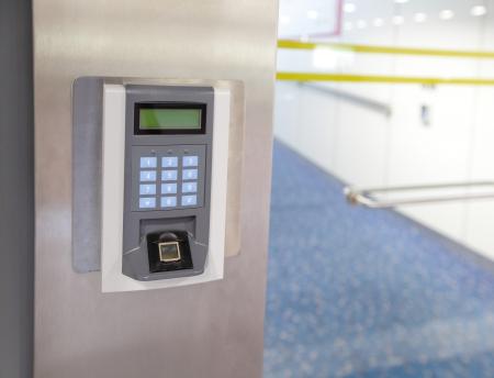 Beveiligingsentree Elektronisch deurslot Stockfoto - 23457300