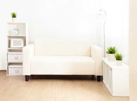 sofa in the living room with wood floor at home Stock Photo - 23572983