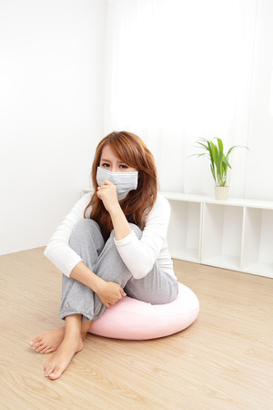 Sick Woman. Flu. Woman Caught Cold. Headache. Virus .Medicines Stock Photo - 23576496