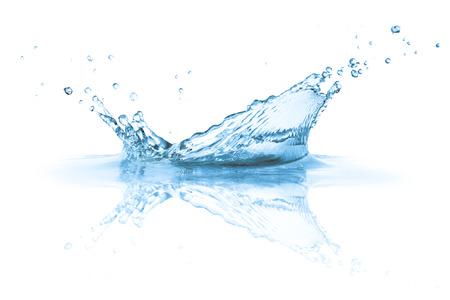 Water splashes , isolated on white background photo