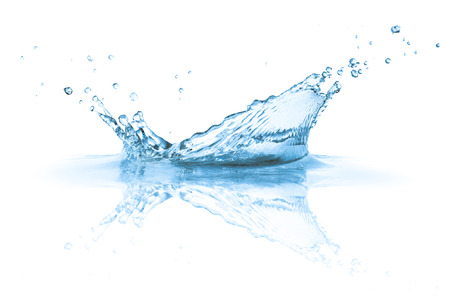 Water splashes , isolated on white background Stock Photo