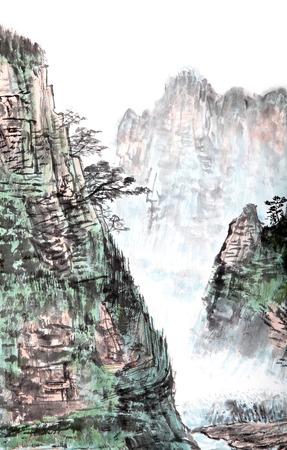 traditionele Chinese schilderkunst, landschap