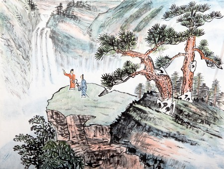 traditional chinese: traditional Chinese painting , landscape