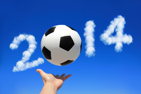 Soccer and 2014 year cloud photo