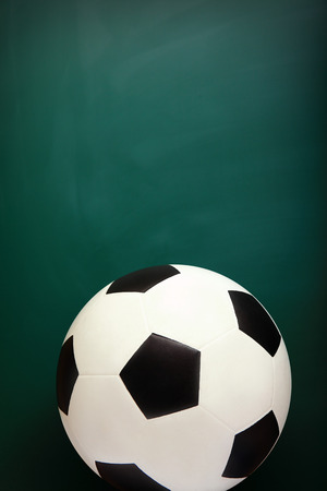 Soccer and Chalkboard, copy space is great for your design photo