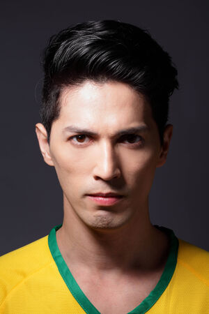 Portrait of a man with Brazil cloth - Latin America photo
