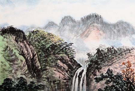 aquarelle: la peinture traditionnelle chinoise, le paysage