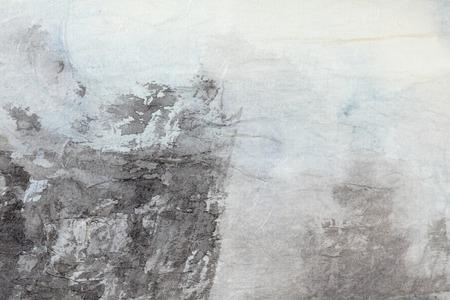 배경에 대 한 좋은 빈 복사본 공간 회색 종이 질감에 추상적 인 전통 중국어 회화 예술, (흑백) 스톡 콘텐츠