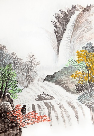 chinese painting: traditional Chinese painting , landscape