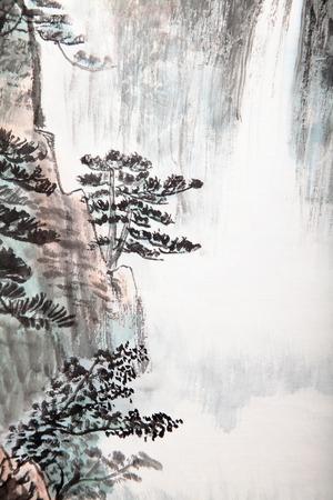 japonais: la peinture traditionnelle chinoise, paysage
