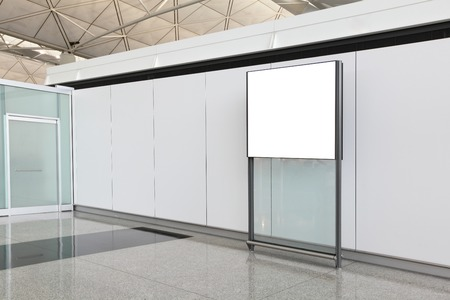 Blank Billboard in airport shot in asia, hong kong, great for your copy space photo
