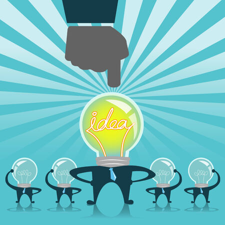 Human Resources concept: choosing the idea business man for the job Vector