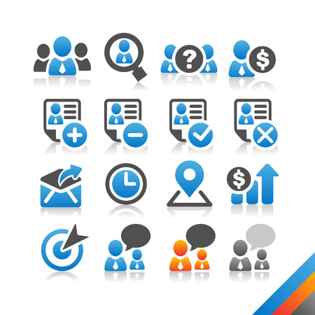 Business Human Resource icon vector - Simplicity Series - Three color version icons vector Vector