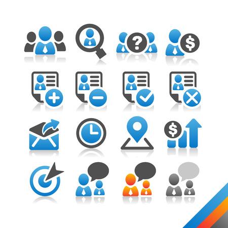 icono comunicacion: Icono de Recursos Humanos Negocios vector - serie Simplicidad - Tres iconos de la versi�n del vector del color