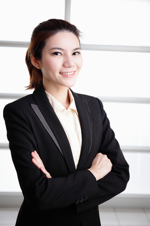 success business woman in office, asian photo