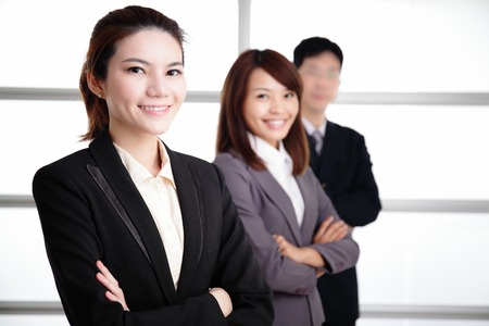 Group of success business people team in office, asian photo