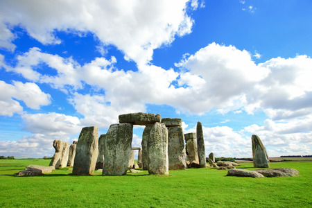 megalith: Stonehenge an ancient prehistoric stone monument near Salisbury, Wiltshire, UK. in England Stock Photo