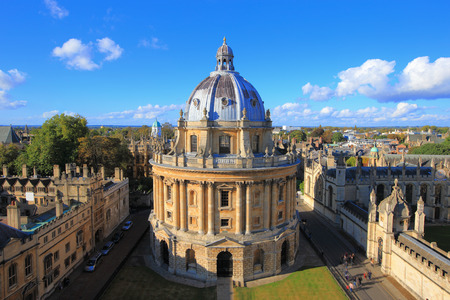 church: The Oxford University City, Photoed in the top of tower in St Marys Church. All Souls College, United Kingdom, England