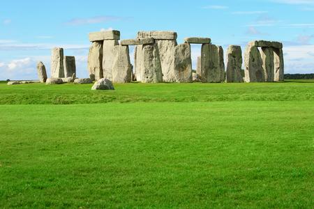 british culture: Stonehenge an ancient prehistoric stone monument near Salisbury, Wiltshire, UK. in England Stock Photo