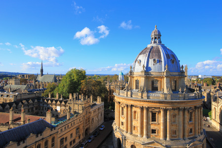 oxford street: The Oxford University City, Photoed in the top of tower in St Marys Church. All Souls College, United Kingdom, England