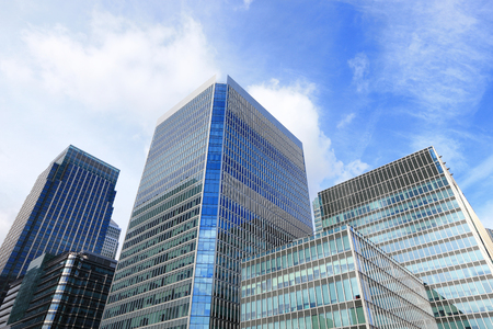 Business building, shot in Canary Wharf financial district in London, United Kingdom, uk