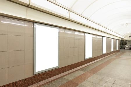 地下ホール、ロンドン, イギリス、英国にあるブランクの看板