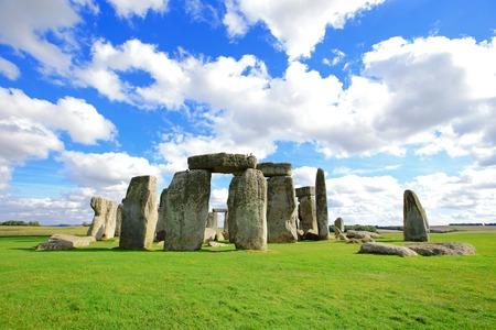 stonehenge: Stonehenge an ancient prehistoric stone monument near Salisbury, Wiltshire, UK. in England Stock Photo