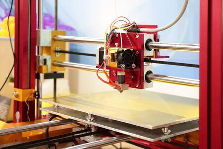 3d printer close up, 3D print concept Stock Photo