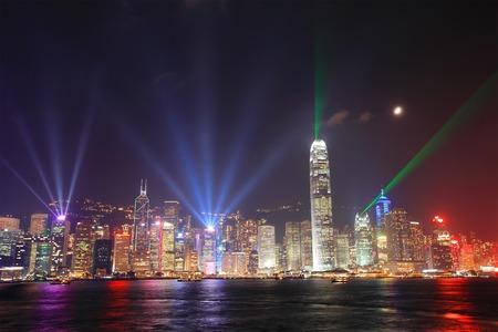hong kong night: Hong Kong night view in panorama
