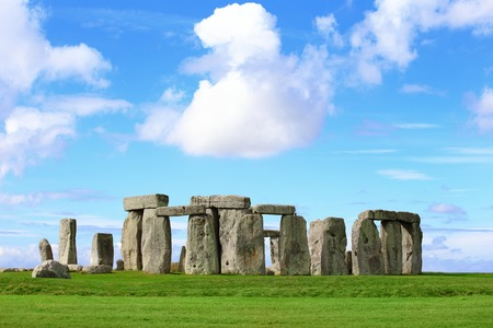 Stonehenge an ancient prehistoric stone monument near Salisbury, Wiltshire, UK. in England Stock Photo