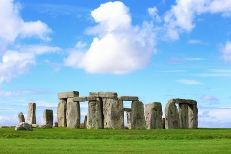 Stonehenge een oude prehistorische stenen monument in de buurt van Salisbury, Wiltshire, UK. in Engeland