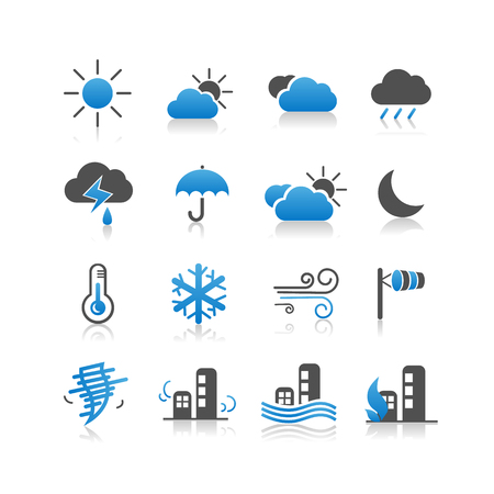 Weather icon set - Simplicity Series Vector