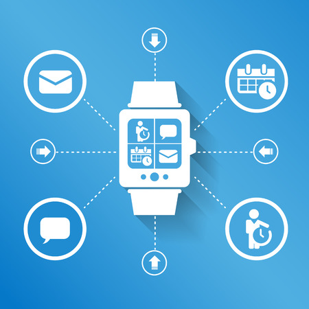 smart person: Smart watch wearable device for business concept