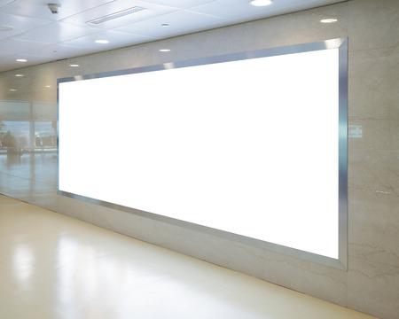 Blank Billboard in airport 版權商用圖片