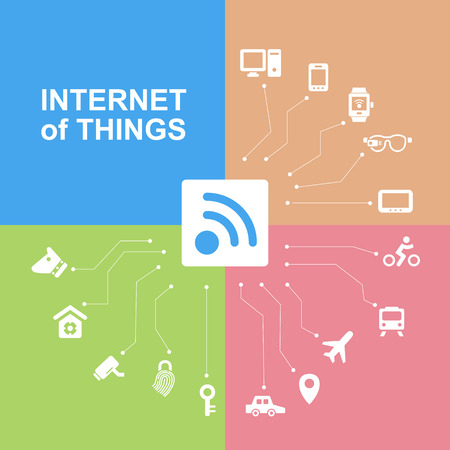 secret code: Internet of things concept with icons