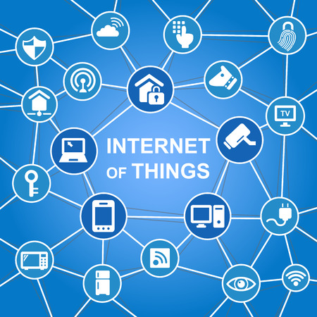 internet technology: Internet of things concept with icons