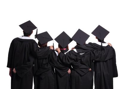 分離の白い背景を探している大学院生のグループ 写真素材 - 39103664