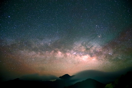 Amazing Star Night - night scene milky way background in the galaxy Stock Photo - 39540249
