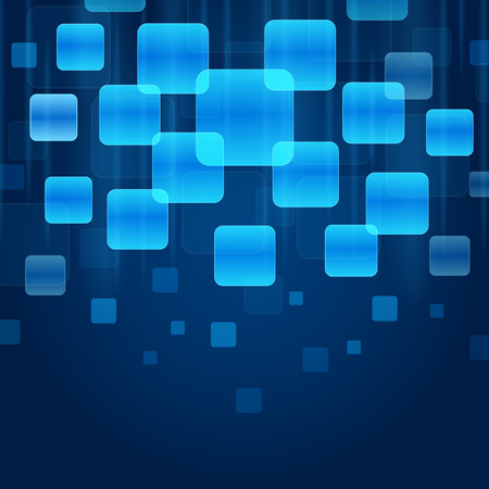 network and media: Set of blank blue buttons with blue background, great for you design or app or icon.