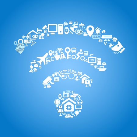 wireless icon: Internet of things and cloud computing concept
