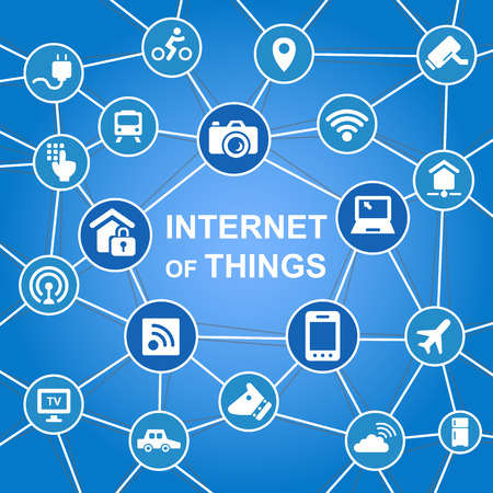 guard house: Internet of things concept with icons