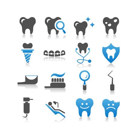 dentures: Dental Care icon set - Simplicity Series