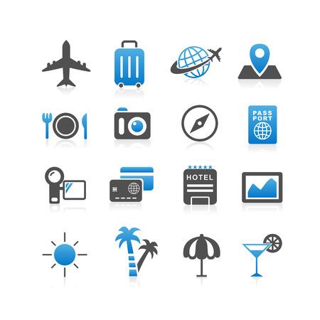 travel icon: Travel icon set - Eenvoud Series Stock Illustratie
