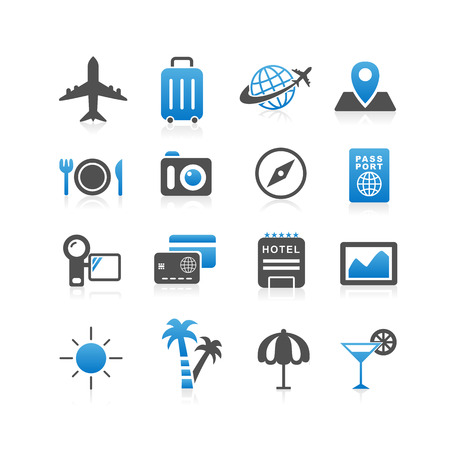 Travel icon set - Simplicity Series Vector