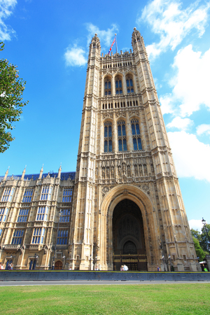 gothic architecture: Houses of Parliament, Westminster Palace, The Palace of Westminster, gothic architecture,  in London, United Kingdom, uk