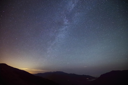 milkyway: Amazing Star Night - night scene milky way background in the galaxy