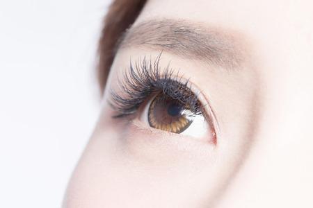 Beautiful woman eye with long eyelashes. asian model Stock Photo