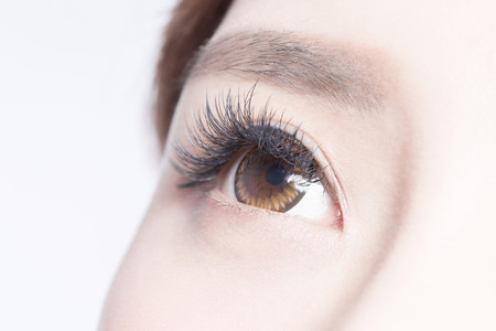 Bella donna occhio con ciglia lunghe. modello asiatico Archivio Fotografico - 48440864